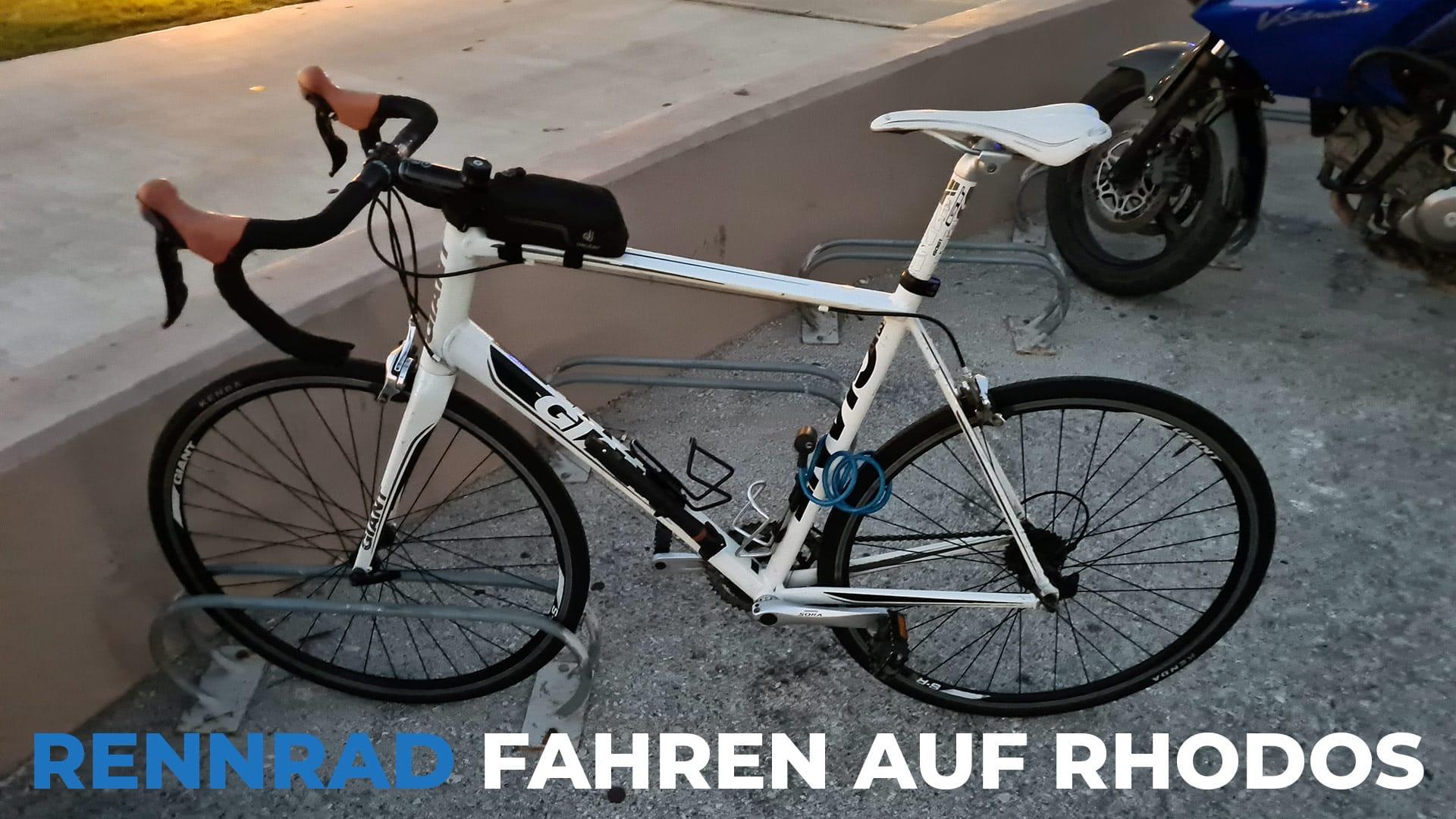 Rennrad fahren auf Rhodos